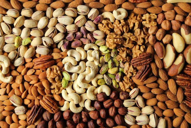Verscheidenheden van noten stock foto