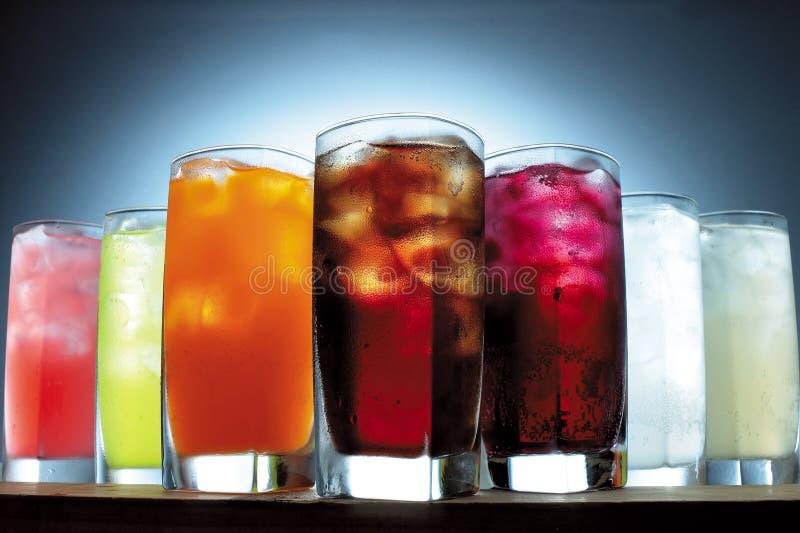 Verscheidenheid van dranken stock foto's