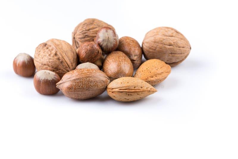Verscheidenheid van gemengde noten stock fotografie