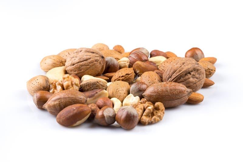 Verscheidenheid van gemengde noten royalty-vrije stock foto