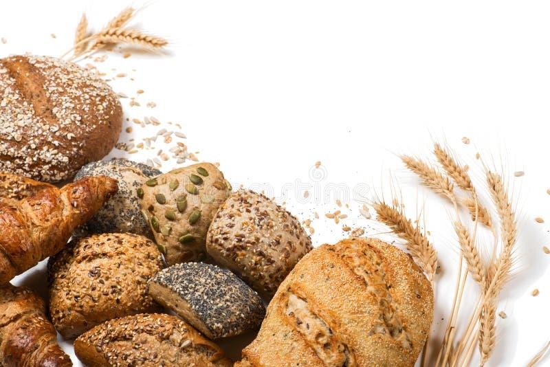 Verscheidenheid van graangewassenbrood stock foto