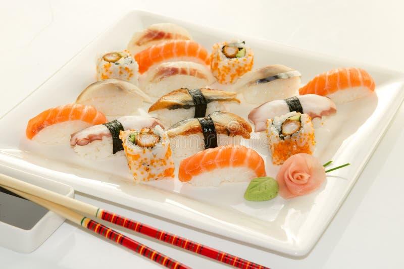 Verscheidenheid van sushi stock foto