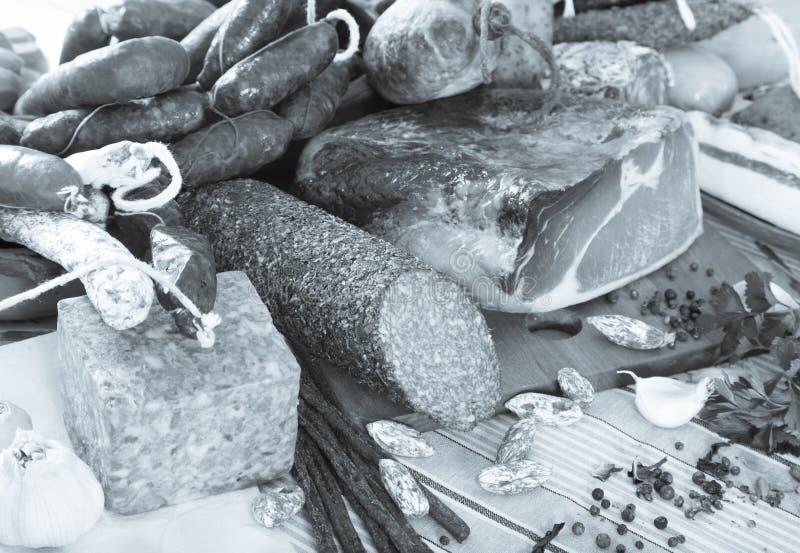 Verscheidenheid van vleeswaren royalty-vrije stock afbeelding