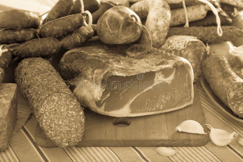 Verscheidenheid van vleeswaren royalty-vrije stock afbeeldingen