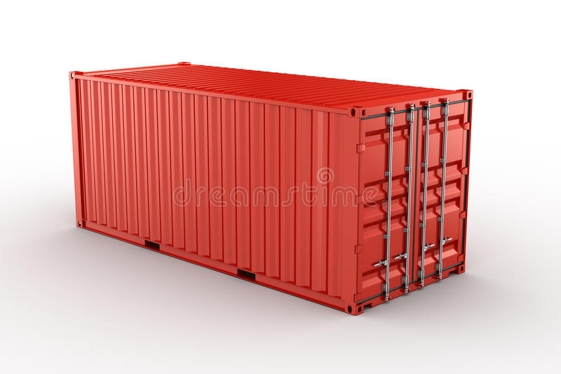 Verschepende container vector illustratie