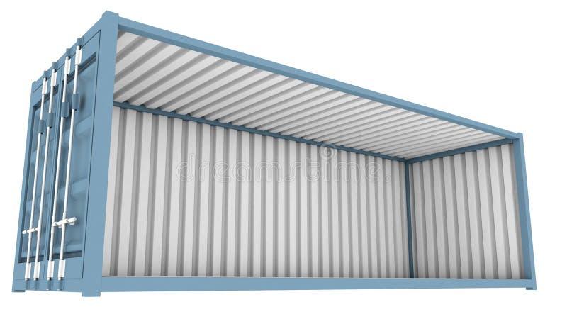 Verschepende Containerschema stock illustratie