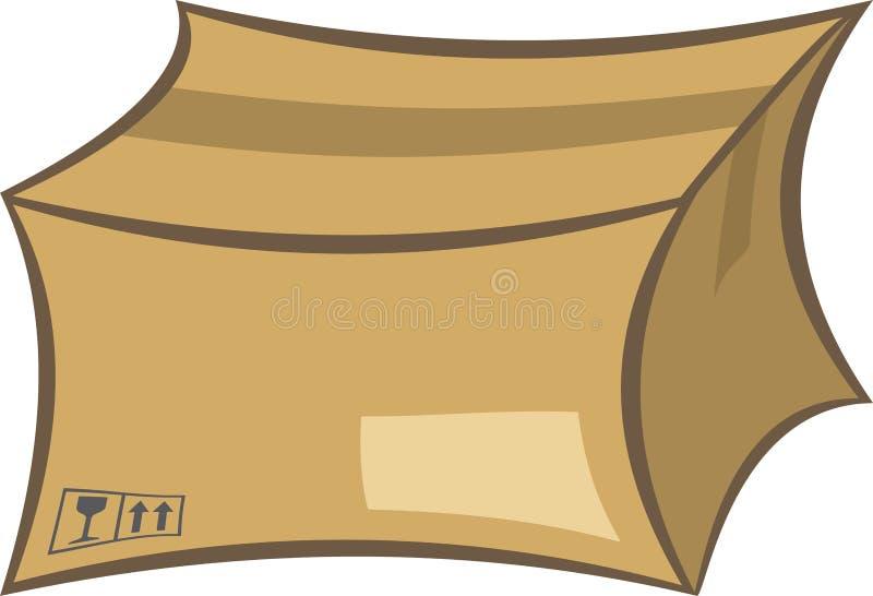Verschepende doos royalty-vrije illustratie