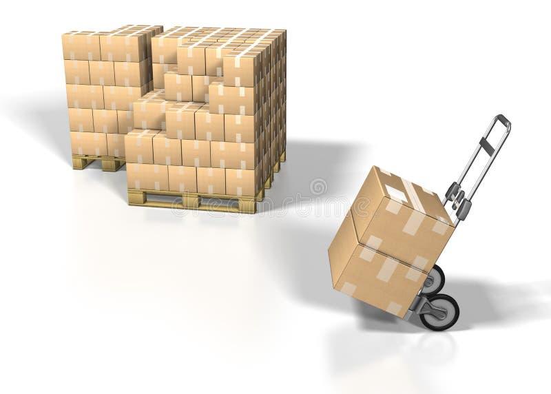 Verschepende doos stock illustratie