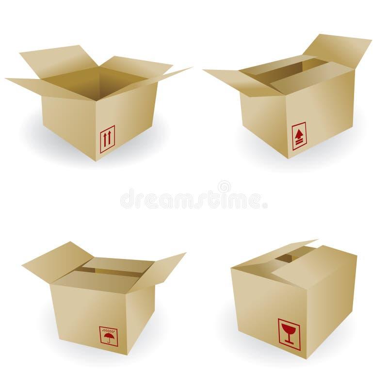 Verschepende doos vector illustratie