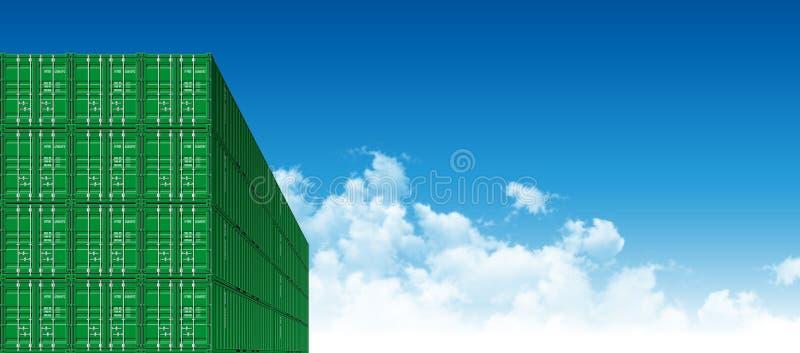 Verschepende Ladingscontainers voor Logistiek en Vervoer stock illustratie