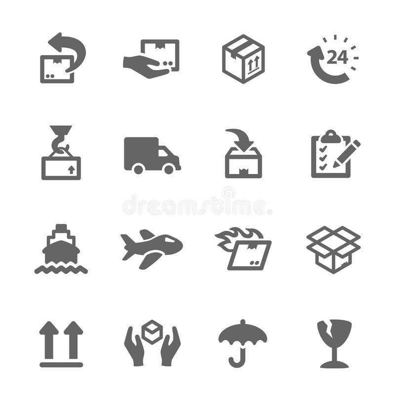 Verschepende pictogrammen vector illustratie