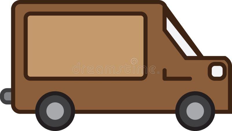 Verschepende Vrachtwagen royalty-vrije illustratie