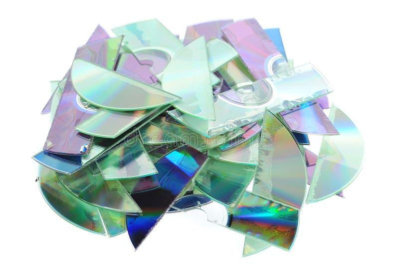 Verscheurde CDs royalty-vrije stock afbeeldingen