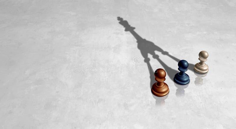 Verschiedenartigkeits-Führungs-Erfolg vektor abbildung