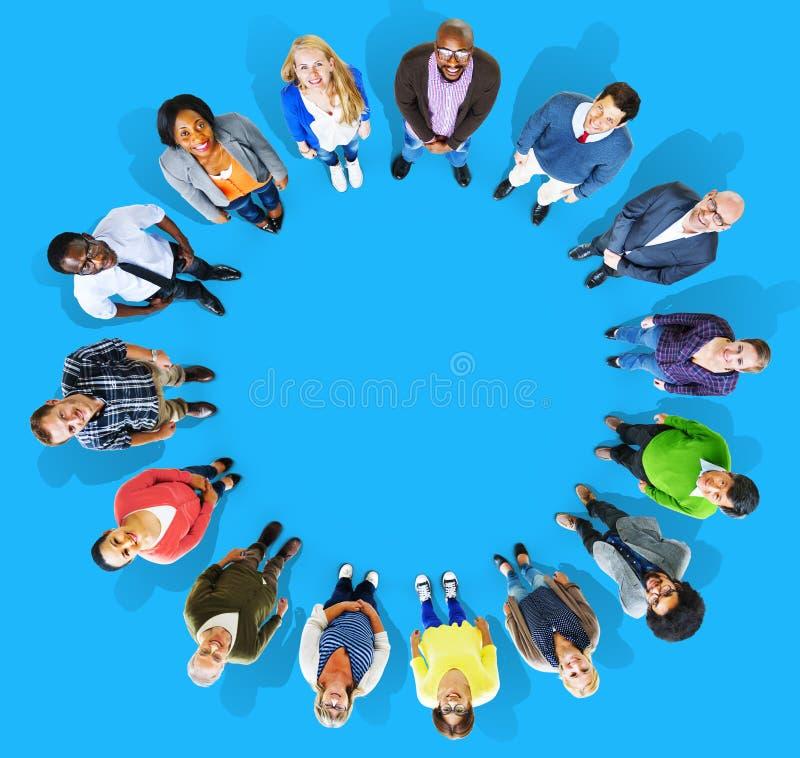 Verschiedenartigkeits-Gruppe Geschäftsleute der Gemeinschafts-Team Concept stockbild