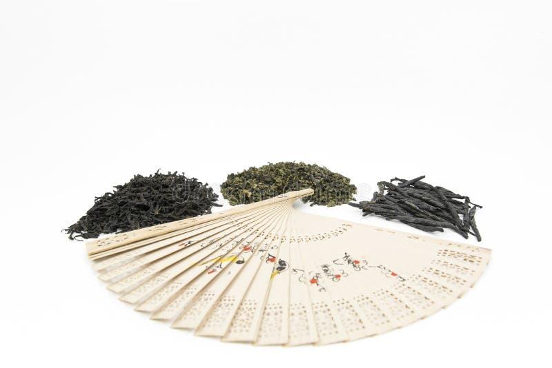 Verschiedene Arten des chinesischen Tees lizenzfreies stockbild