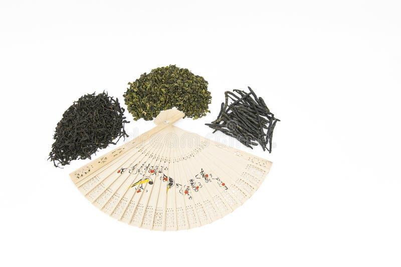 Verschiedene Arten des chinesischen Tees stockbild