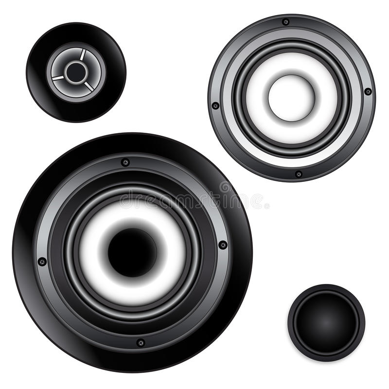 Verschiedene Audiotreiber lizenzfreies stockbild