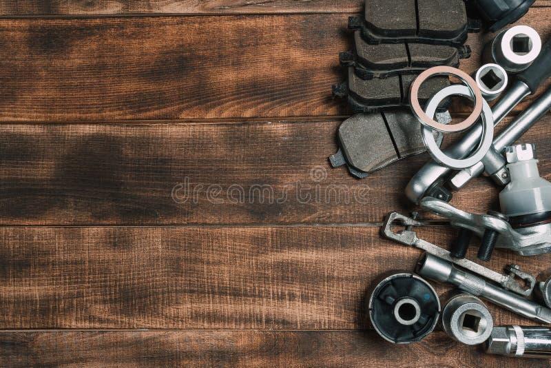 Verschiedene Autoteile lizenzfreies stockbild