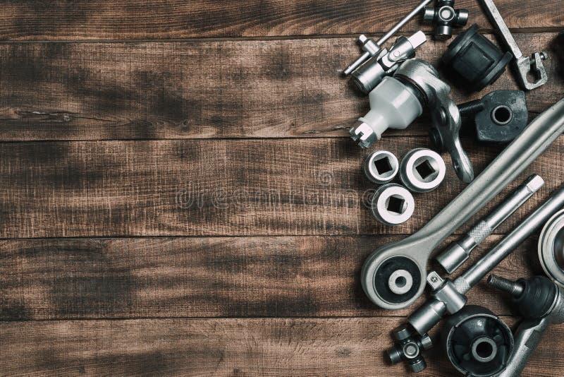 Verschiedene Autoteile lizenzfreie stockfotografie