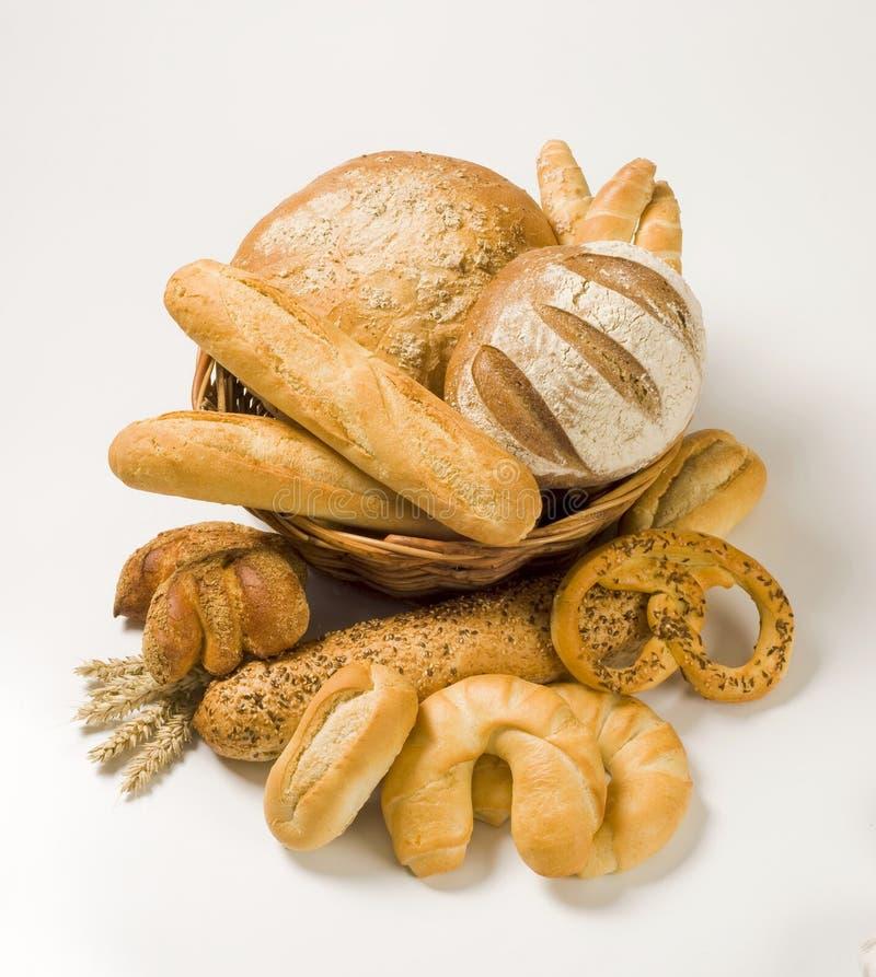 Verschiedene Bäckereiprodukte stockfotos
