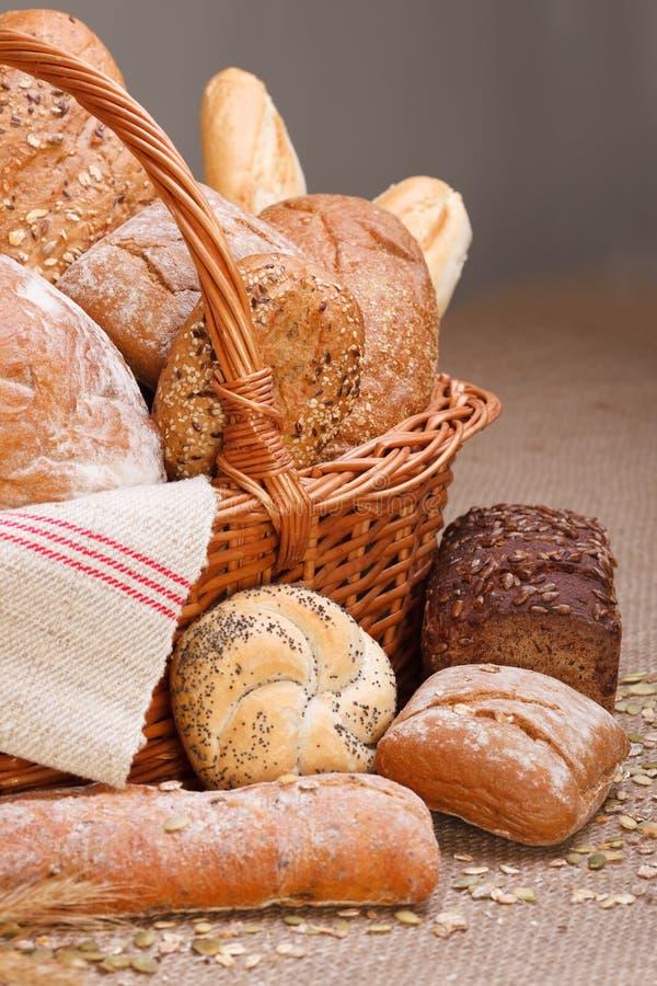 Verschiedene Brote stockbilder