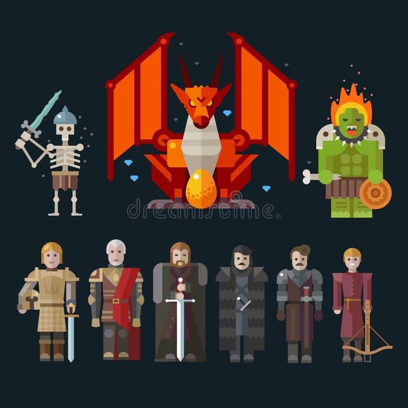 Verschiedene Charaktere für das Spiel stock abbildung