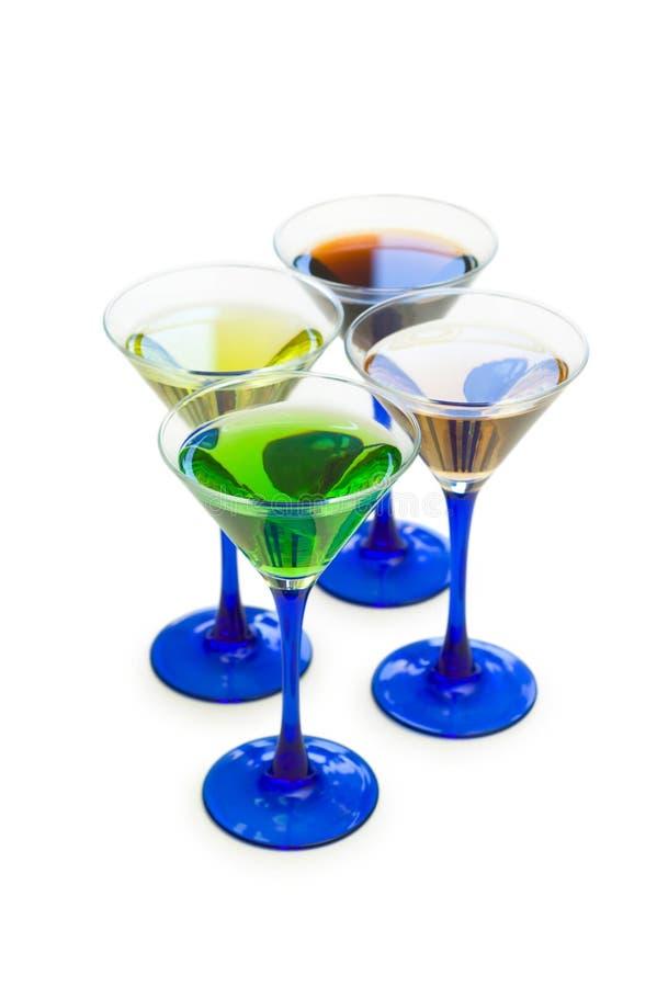 Verschiedene Cocktails getrennt stockfoto