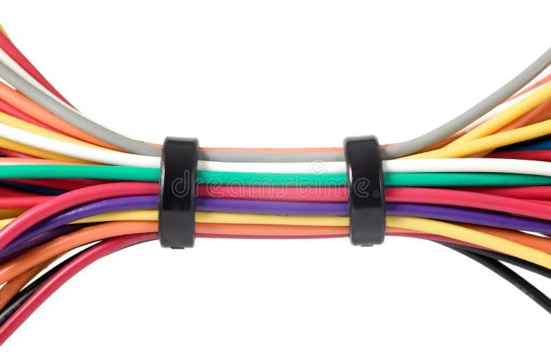 Verschiedene Elektrische Drähte Stockfoto - Bild von farbe, anschluß ...