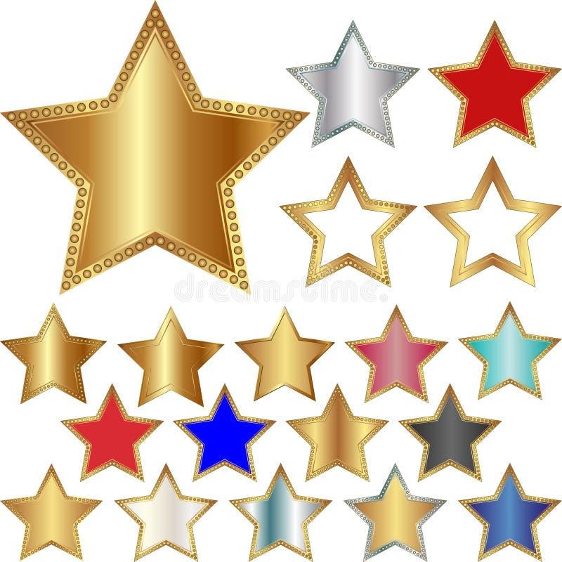 Fünf-spitzer Stern stock abbildung