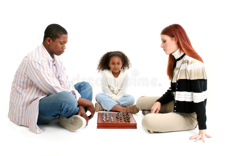 Verschiedene Familie stockbild