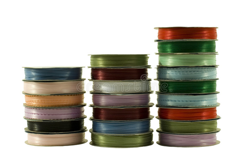 Verschiedene Farben-Farbbänder lizenzfreies stockfoto