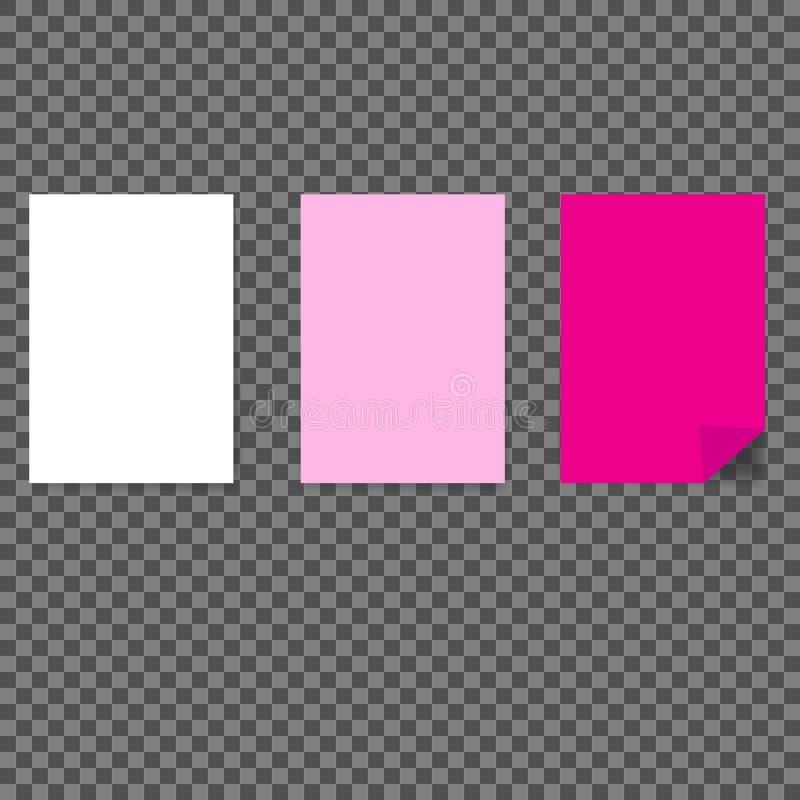 Verschiedene farbige Blätter Papier A4 Briefpapiere lizenzfreie abbildung