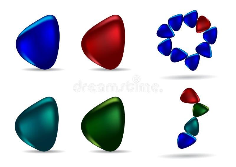 Verschiedene farbige Steine vektor abbildung