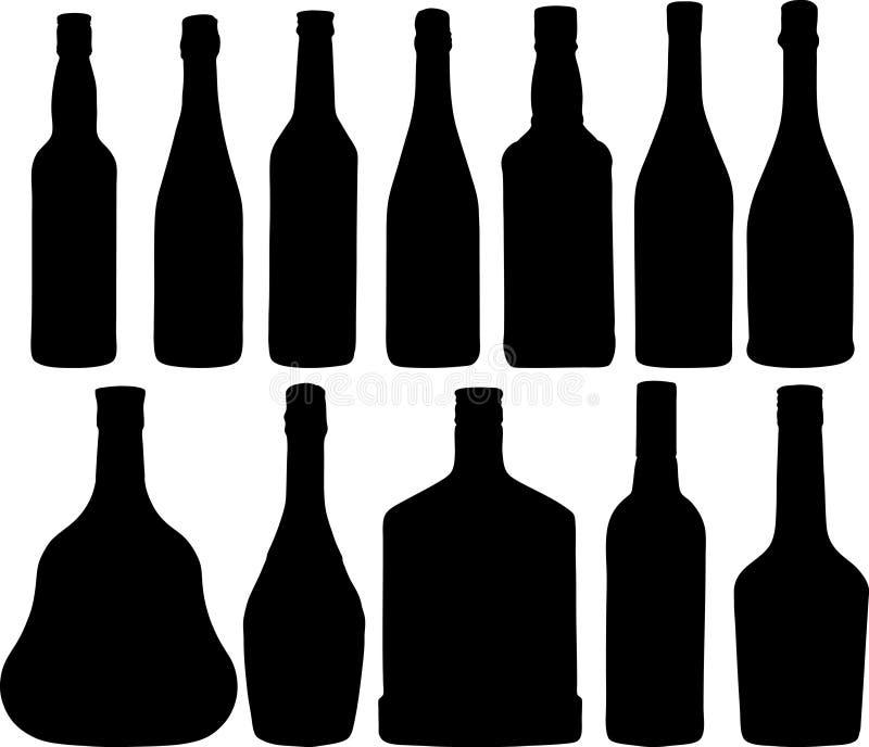 Verschiedene Flaschen lizenzfreie abbildung