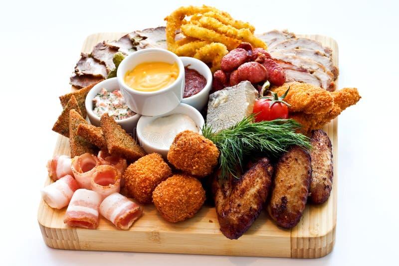Verschiedene Fleischwaren des Snacks lizenzfreies stockfoto