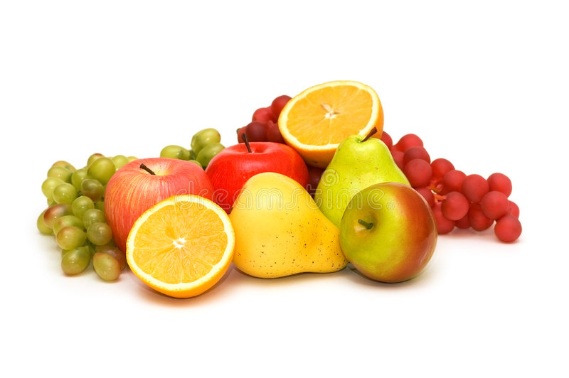 Verschiedene Früchte getrennt stockfotografie