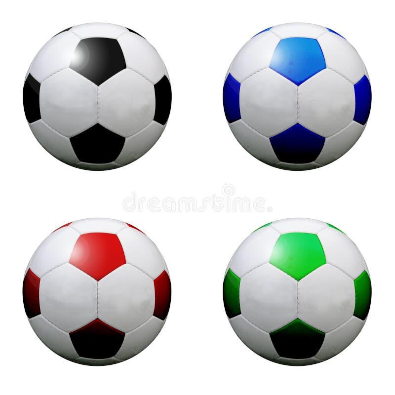 Verschiedene Fußballkugeln stock abbildung