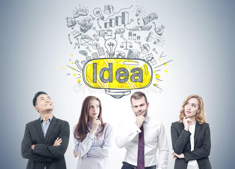 Verschiedene Geschäftsteammitglieder, Idee stockbild