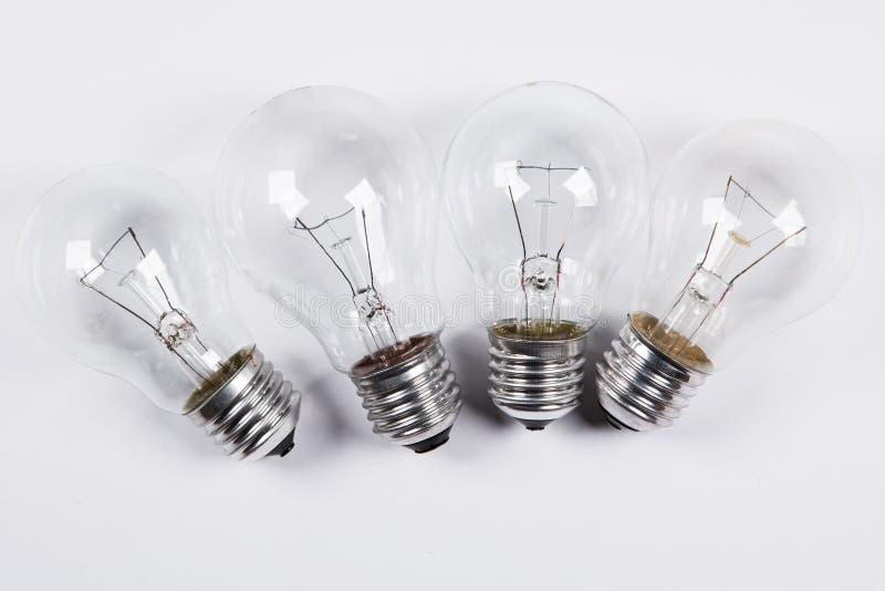Verschiedene Glühlampen lizenzfreie stockbilder