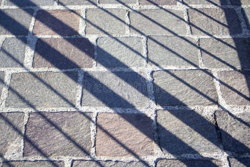 Verschiedene Größenkopfsteine stockbild