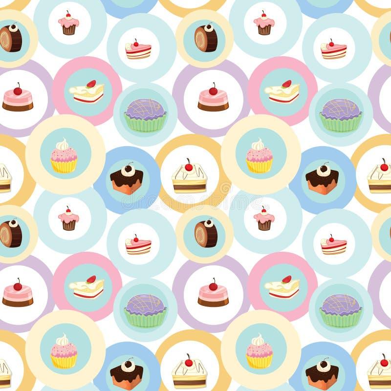 Verschiedene Kuchen lizenzfreie abbildung