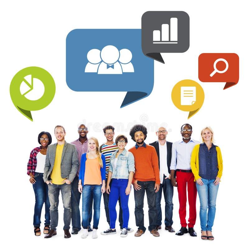 Verschiedene Leute mit Führungs-Eigenschaften lizenzfreies stockfoto