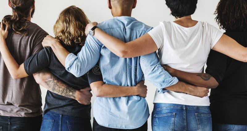 Verschiedene Leute mit Teamwork-Konzept lizenzfreie stockbilder