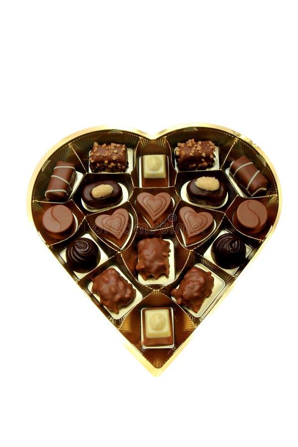 Verschiedene luxuriöse Schokoladen lizenzfreies stockfoto