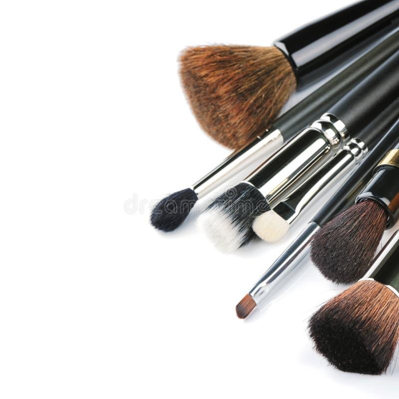Verschiedene Make-upbürsten lizenzfreie stockfotos