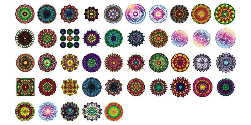Verschiedene Mandalasammlungss?tze Boho-Art Vektordateien k?nnen angewendet werden, um zu drucken und digitale Medien vektor abbildung