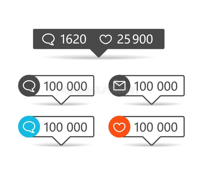 Verschiedene Netzberichterstatter Felder mit Ikonen lizenzfreie abbildung