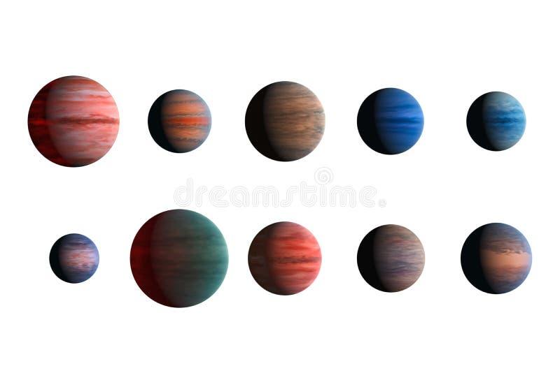 Verschiedene Planeten lokalisiert auf weißem Hintergrund Elemente dieses Bildes geliefert von der NASA stockbilder