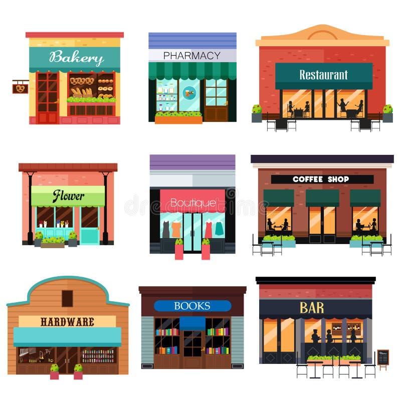 Verschiedene Shop-Ikonen lizenzfreie abbildung